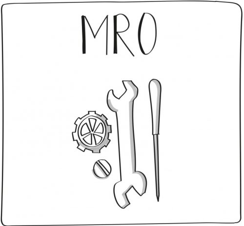 MRO graphic that depicts wrench and screwdriver